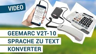 Produktvideo zu Sprache zu Text Konverter für schnurgebundene Telefone geemarc V2T-10