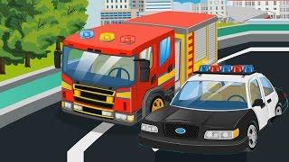 #МАШИНКИ Мультики для детей 🚒🚓 #Пожарная и #Полицейская Машина Машины Помощники #Мультфильмы 2017