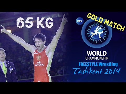 Gold Match - Freestyle Wrestling 65 kg - S. RAMONOV (RUS) vs S. MOHAMMADI (IRI) - Tashkent 2014