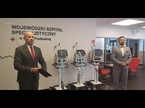 Trzy wysokiej klasy respiratory Miasto Biała Podlaska przekazało do bialskiego szpitala