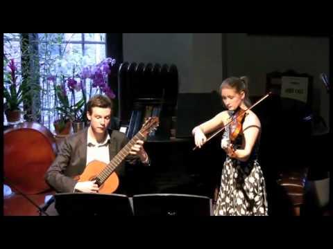 Paganini Sonata Concertata M.S. 2 in A Major for Violin and Guitar, 1st movement