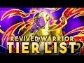 A TOP TIER CATEGORY? REVIVED WARRIORS TIER LIST! (DBZ: Dokkan Battle)