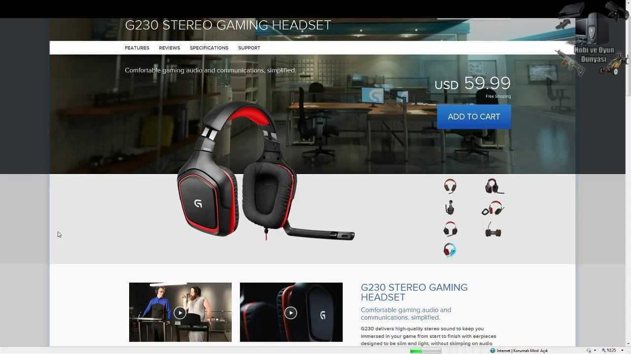 Logitech G230 Stereo Gaming Headset - İnceleme