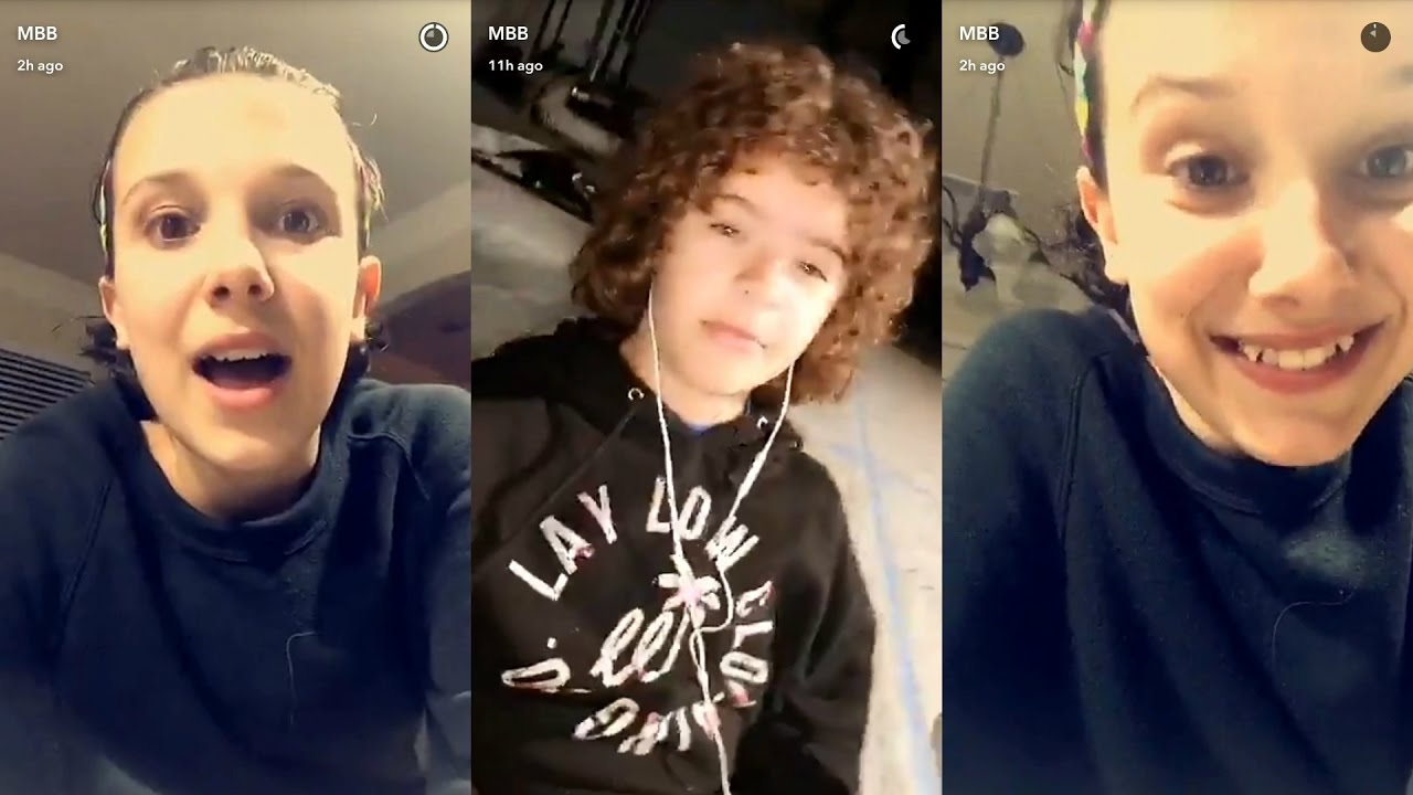 millie bobby brown and gaten matarazzo. millie bobby brown ( eleven ) ▻ snapchat story ◅ 3 april 2017 w/ gaten matarazzo dustin and r