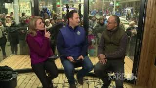 Lester Holt stops by KARE 11 Saturday at the Warming House