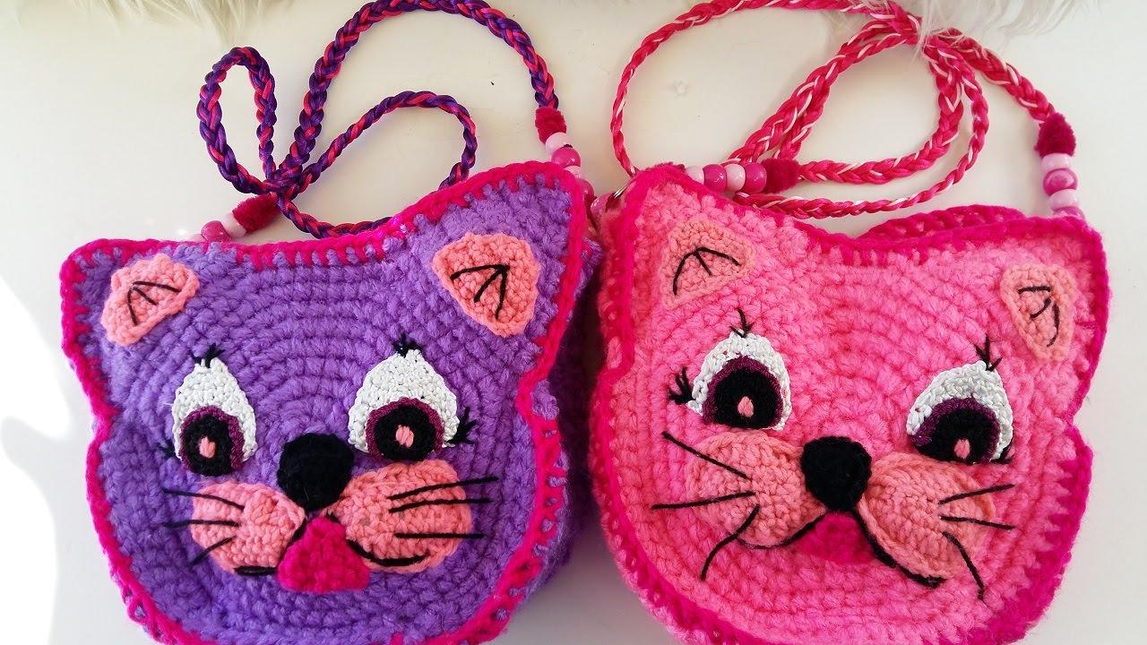 Amigurumi Gato Paso A Paso : Diy# tutorial bolso crochet cara de gato bags to crochet youtube