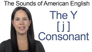 English Sounds - Y [j] Consonant - How to make the Y [j] Consonant