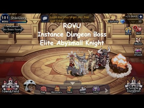 ROVU - Instance Dungeon Boss Knights' Shelter (Elite Abysmall Knight)
