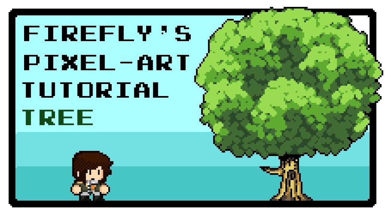 pixel art tutorial 1 background trees and vegetation youtube