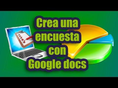 Tutorial como hacer una encuesta con Google Docs