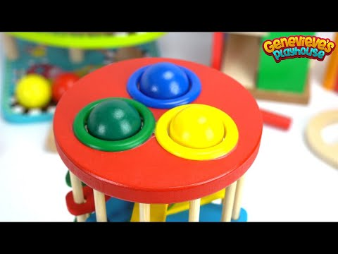 Best Learning Video for Kids: Teach Kids with Fun Preschool Toy Ball Pounding Benches!