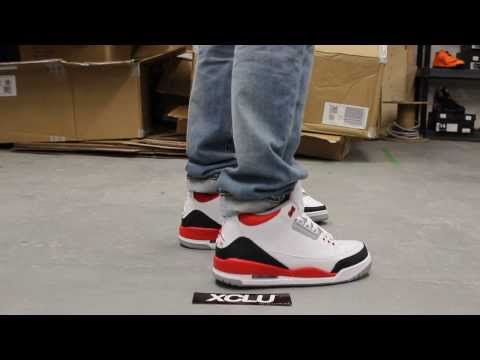 30861a3b6394 Air Jordan III Retro  Fire Red  On-feet Video at Exclucity