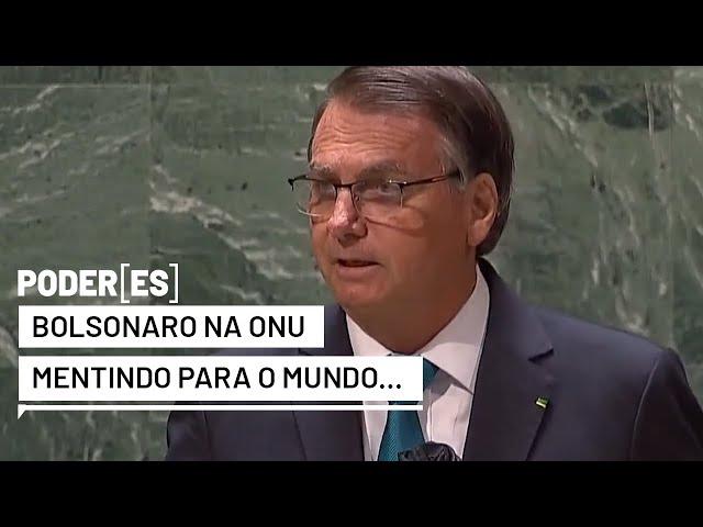 Deu a louca na ONU. Bolsonaro, um mentiroso e bando em Nova York...