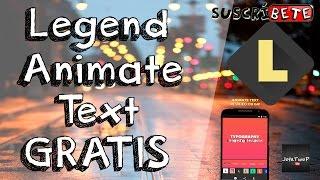 Legend Animate Text Premium Gratis | Facil & Rapido |