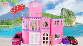 Barbie Pink Dream House Unboxing Setup Rumah impian boneka Barbie Casa de sonho