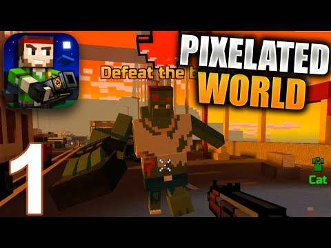 PIXEL GUN 3D Gameplay Part 1 - Campaign: Pixelated World (iOS Android)