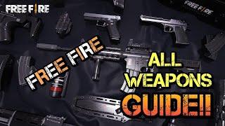 STRONGEST & BEST GUN AT FREEFIRE BATTLEGROUNDS!! All guns intro guide (GOOD OR BAD)??