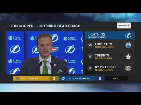 Jon Cooper -- Tampa Bay Lightning vs. Boston Bruins 03/17/2018