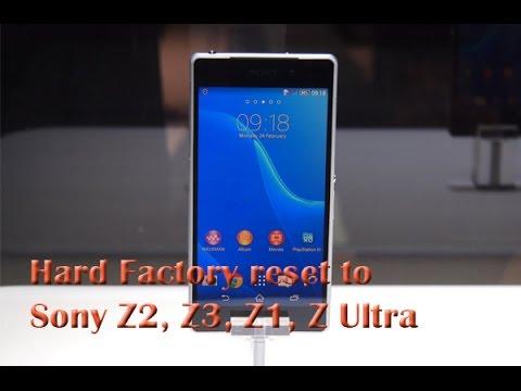 Hard Factory reset to Sony Z2, Z3, Z1, Z Ultra
