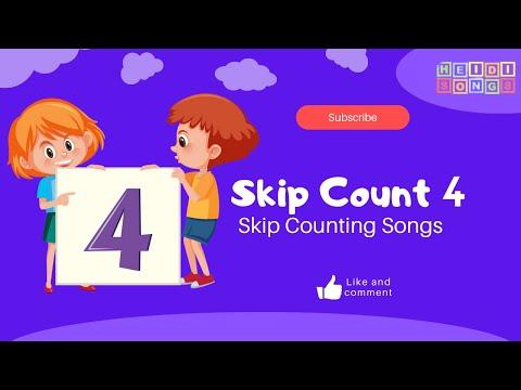 SKIP COUNT FOUR | HeidiSongs: Skip Counting Songs