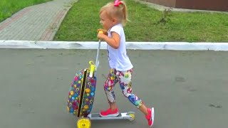 Самокат ЧЕМОДАН для детей!!! Scooter SUITCASE for kids entertainment for children