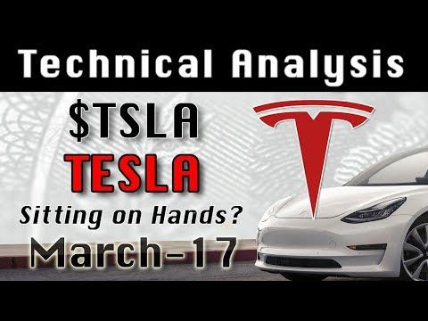 Mar-17 'Sitting on Hands?' TESLA $TSLA Update Stock Market Technical Analysis Chart