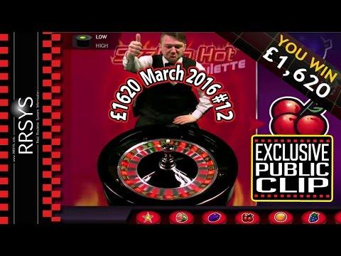 ▀ Epic Dealer Reaction Casino Roulette Win - 7/3/2016 (Clip #12)