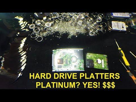 Platinum is in Modern Hard Drive Platters