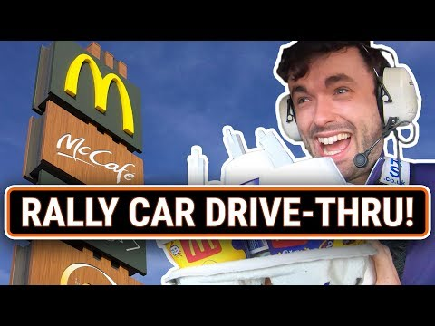 Getting Into Trouble Driving A Rally Car To McDonalds