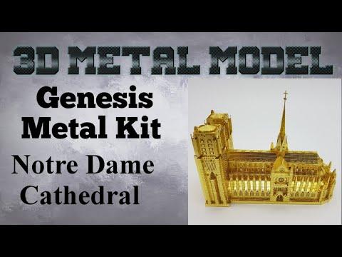 Genesis Metal Model Build - Notre Dame Cathedral Gold