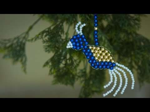 How to make bird christmas ornaments 2019   christmas decorations ideas   Beaded bird   Beads art