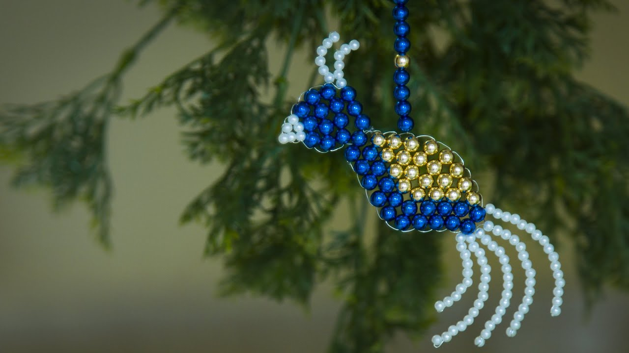 how to make bird christmas ornaments christmas decorations ideas beaded bird beads art youtube - Bird Christmas Decorations