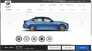 2018 BMW M3 - Build Price And Options - Build Your Own BMW M3