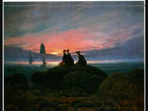 Caspar David Friedrich Moon and Swans