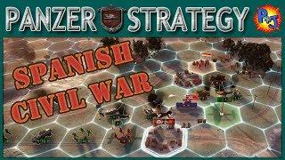 Let's Play Panzer Strategy Part 1   Spanish Civil War Siege of Madrid Scenario Gameplay