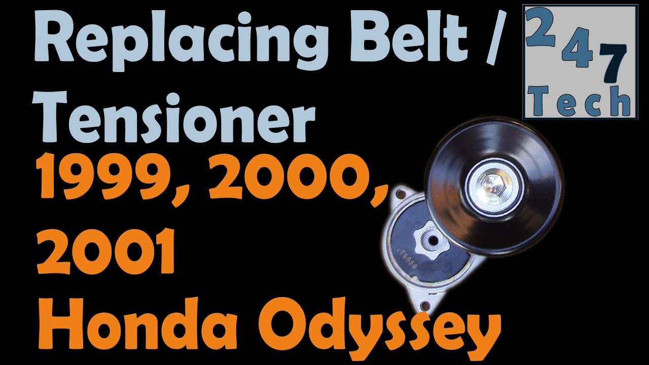 Replace tensioner and belt honda odyssey 1999 2001 247 003 youtube replace tensioner and belt honda odyssey 1999 2001 247 003 pooptronica