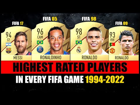 HIGHEST RATED Football Players Ever In FIFA Games! 😱😵 FIFA 94 - FIFA 22