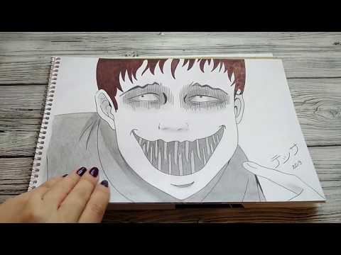 Мои Аниме рисунки. Часть 2. Коллекция Дзюндзи Ито, Убить Сталкера, До десяти, и обзор арт материалов