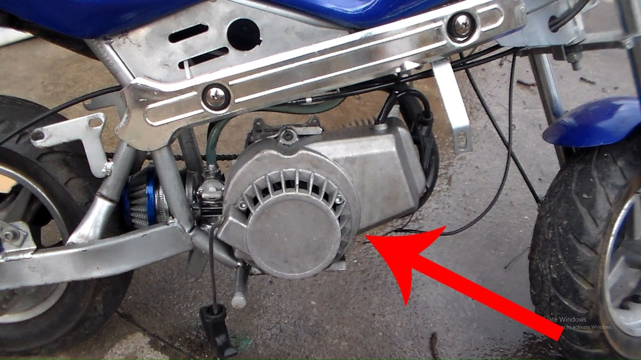 how to replace pull starter on pocket bike easy pocket bike repairhow to replace pull [ 1280 x 720 Pixel ]