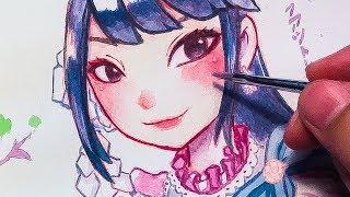 วาดรูป เฌอปราง BNK48 ในชุด SiamLolita (Kimi wa melody) | Fatlipz