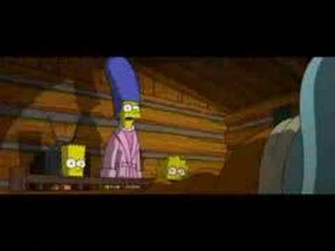 The Simpsons Movie Clip 10 Wanted Poster At The Truck Stop Youtube