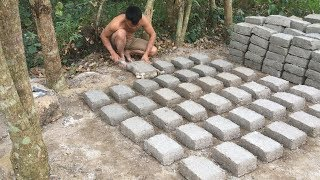 Primitive technology with survival skills Ancient Bricks part 2