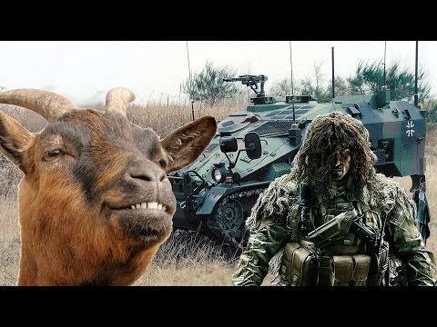 Die Ziege, der Sniper und das Wiesel
