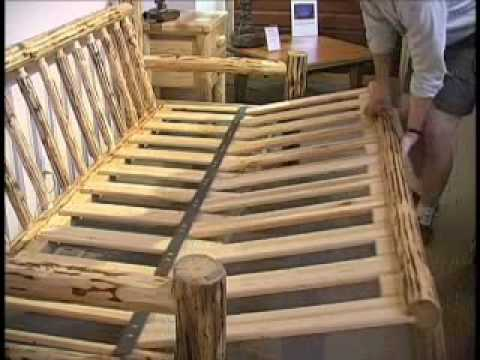 Log Bed Frame Plans How To Build