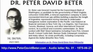 Dr. Peter Beter - Audio Letter - 1975-06-21