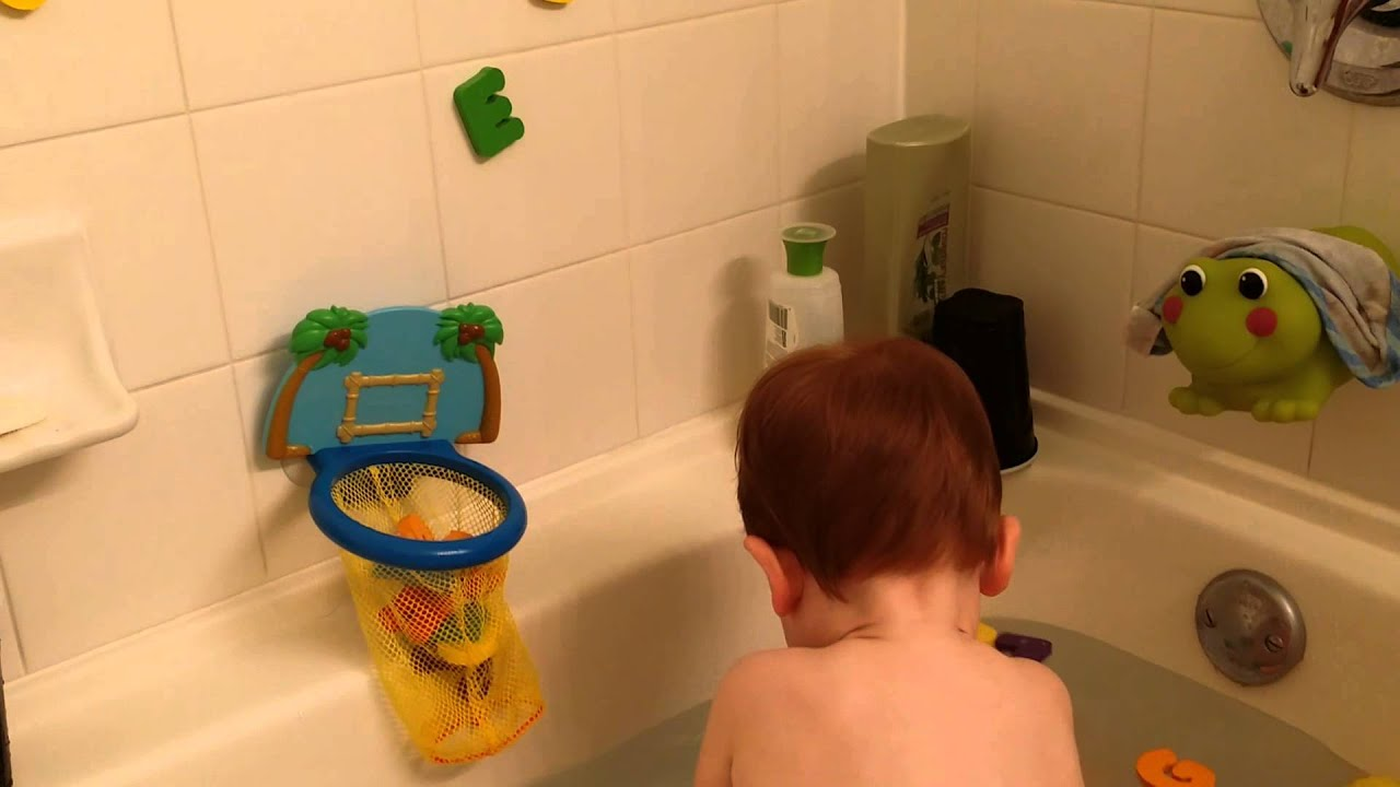 Andys new bath toys - YouTube