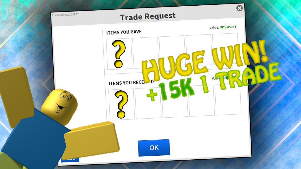 ROBLOX Trading R$10000 to R$50000: 15,000 VALUE/RAP/ROBUX WIN!!! #23