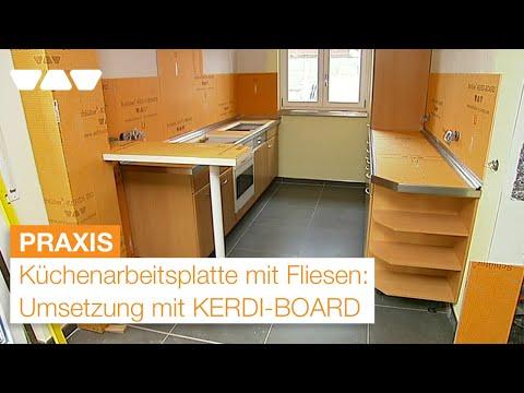 KERDIBOARD Küchenarbeitsplatte Mit Fliesen YouTube - Küchenarbeitsplatte aus fliesen
