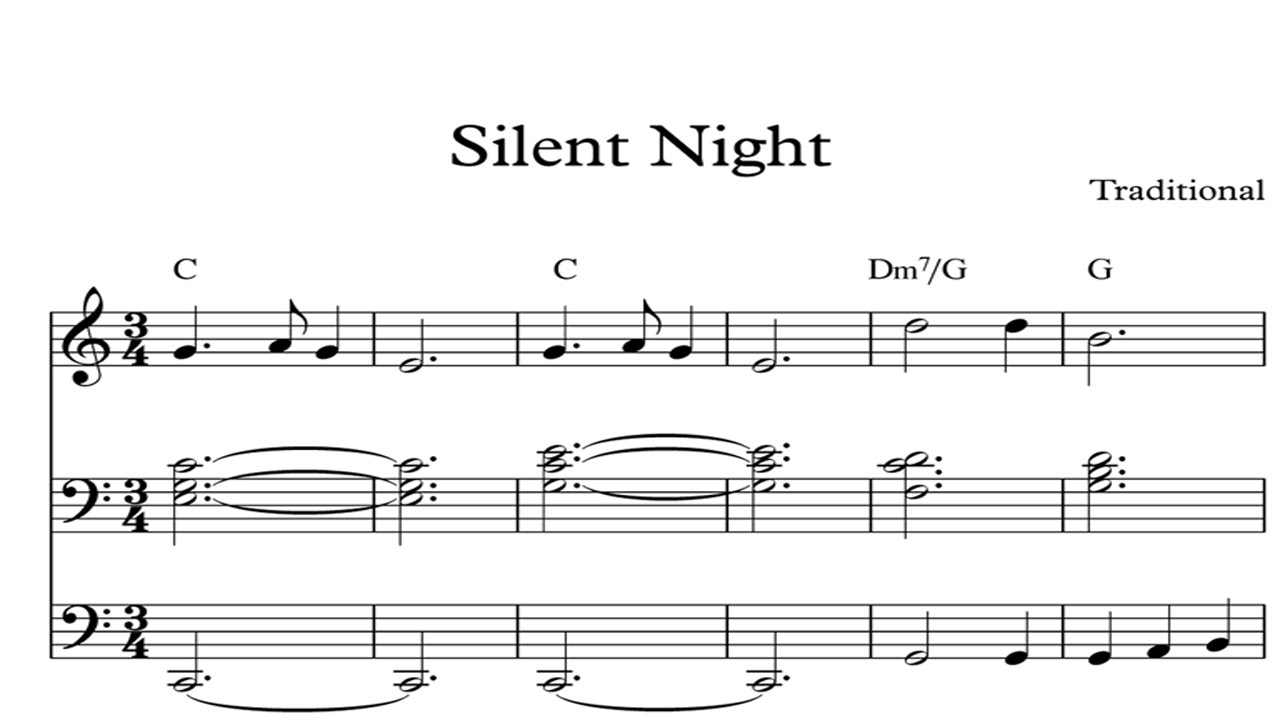 Silent Night Christmas Sheet Music Piano Organ Amp Keyboard