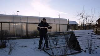 Куры зимой в теплице при  - 30 С